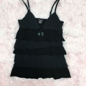 Juicy Couture strappy tank top with ruffles